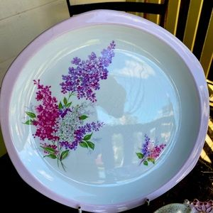 Delightful Display Plate with Lilacs